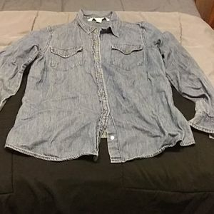 Size small denim button up